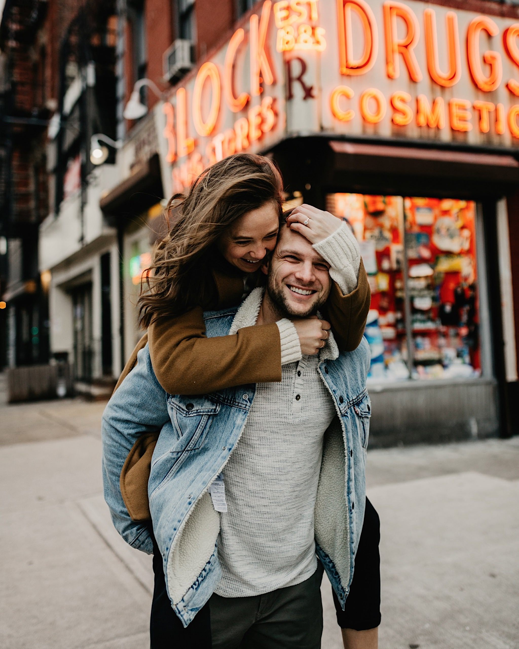 east village nyc engagement photos